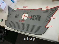 Axis Aquatrac A24 Liquid Force Swim Step Mat Gray / Black Self Adhesive Boat