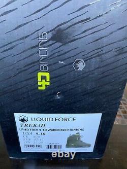 NIB Liquid Force Trek 4D Wakeboard Bindings-9-10