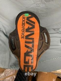 New Liquid Force Vantage CT Wakeboard Bindings Size 6-8 Black/Orange (130-SD3)