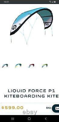 Force Liquide P1 Cerf-volant 5m Kiteboard Avec Sac À Dos Nouveau