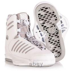 Force Liquide Tao Femme Blanc 6x Taille Royaume-uni 3-5 Wakeboard / Wakeboarding Reliure