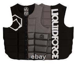 Liquid Force Flex Watersports Wakeboard Impact Vest, Black Silver. 51100