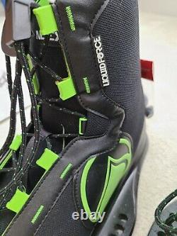 Liquid Force Index Wake Board Chaussures Taille 12 15 Noir Neon Vert Réglable T.n.-o.