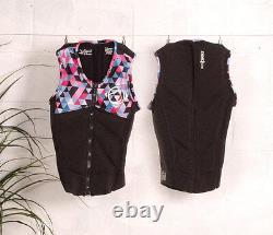 Liquid Force Z Cardigan Ladies Zip Wakeboard Impact Vest, Coal Multi. 62335