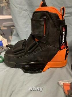 New Liquid Force Vantage Ct Wakeboard Manchettes Taille 8-9 Noir / Orange (sc4 1698)